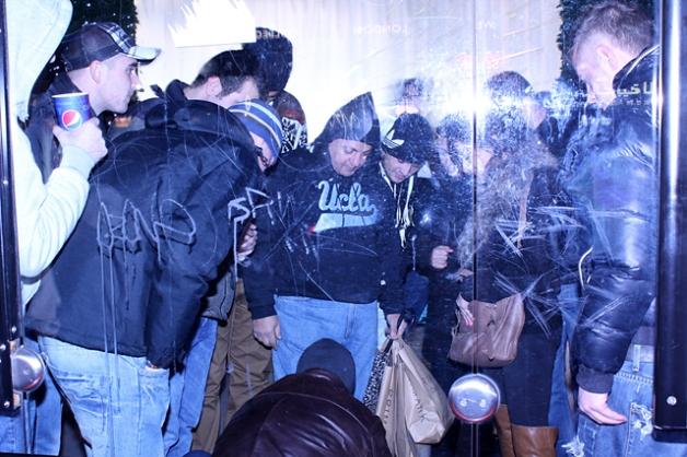 Street gamblers outside Selfridges, Christmas 2011