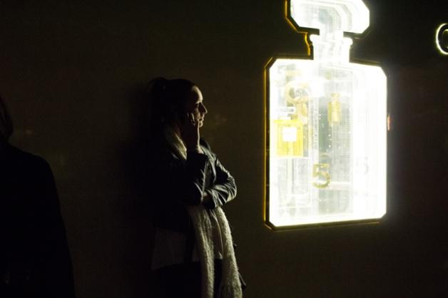 girl standing chanel